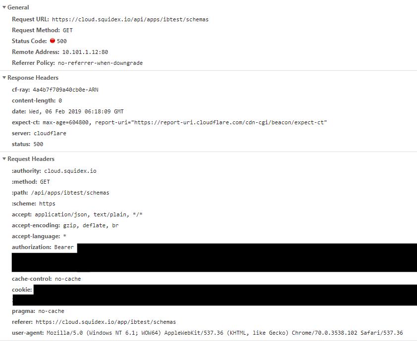 SOLVED] 500 - Server Error when retrieving schemas and content